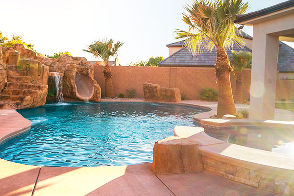 Sure design pools custom pool design construction for Pool design utah